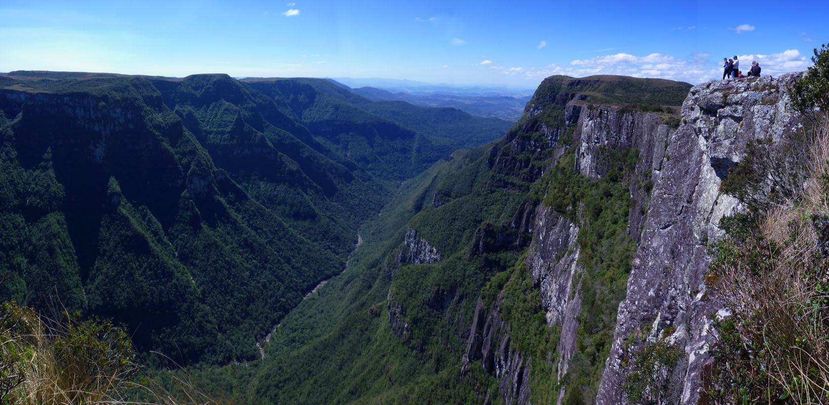 Blick in den Canyon Richtung Santa Catarina